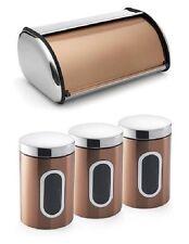 Addis Copper Roll Top Bread Bin Tea Coffee Sugar Canisters Jars Container