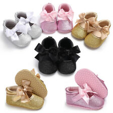 Newborn Baby Girl Princess Crib Shoes Infant Toddler Pre Walker First Shoes 0-18