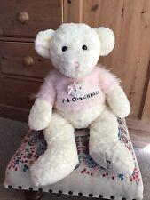LARGE FAO SCHWARZ CREAM TEDDY BEAR PINK JUMPER SWEATER SOFT PLUSH TOY CHRISTMAS