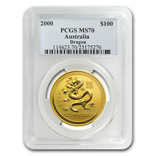 2000 1 oz Gold Lunar Year of the Dragon MS-70 PCGS (Series I) - SKU#69684