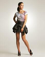 79393 Nw All Saints Spitalfields Layer Gray Cotton Mini Hitch Up Skirt Medium M