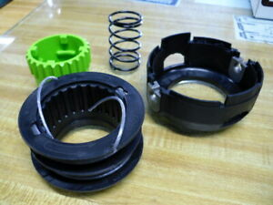 GENUINE ST60 GREEN WORKS BUMP & FEED HEAD SPOOL, COVER, SPRING AND BUMP BUTTON