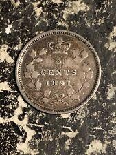 1891 Canada 5 Cents Lot#Q2007 Silver!