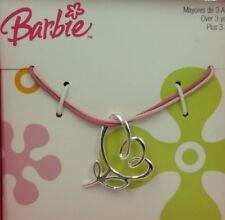 Collar para niñas Barbie en plata de ley