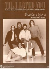 "RESTLESS HEART ""TIL I LOVED YOU"" SHEET MUSIC PIANO/VOCAL/GUITAR/CHORDS-1986-NEW!"