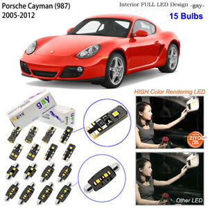 15 Bulbs Deluxe LED Interior Light Kit White For (987) 2005-2012 Porsche Cayman
