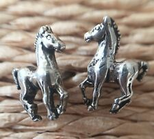 **PRICE REDUCED** STERLING SILVER POST EARRINGS 925 MADE IN THE USA HORSE