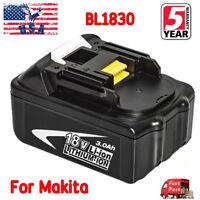 For Makita 18V 3.0Ah Li-Ion BL1840 Cordless Battery BL1830 BL1850 LXT400 Drill