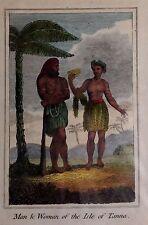 OCÉANO PACÍFICO, Vanuatu,Tana,  aguafuerte original, primera mitad siglo XIX