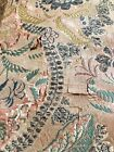 Early 20th C Antique Vintage Silk Brocade Wall Hanging Tapestry Damask