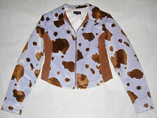GUESS padded cow-pattern jacket giubbino giubbotto imbottito donna S SMALL NWOT