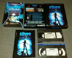 THE ABYSS Lot Special Edition VHS & Fat Clam Case Rare James Cameron Horror 1989