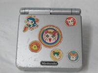 L554 Nintendo Gameboy Advance SP console Platinum Silver Japan GBA