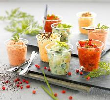150 Plastic 2oz SHOT CUPS......... clear party wedding pot jelly dessert glasses