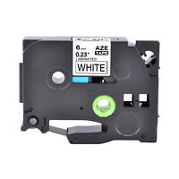 1PK Fits Brother P-Touch TZ-211 TZe-211 Black on White Label Tape PT-E500 1/4in
