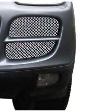 Zunsport Polished silver mesh front outer grille set Porsche Cayenne 02-08