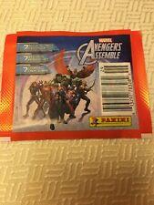 2013 Marvel Avengers Assemble Panini 7 Sticker/Cards Captain America Hulk Thor