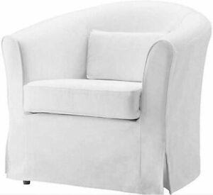 New Original IKEA cover set for Ektorp TULLSTA armchair in BLEKINGE WHITE