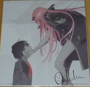 Darling in the Franxx Lottery Last One Prize Print Shikishi Art Board Zero Two