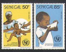 Senegal 1986 UNICEF/Bambini/Infermiere/di Immunizzazione/salute/Benessere 2 V Set (n35899)