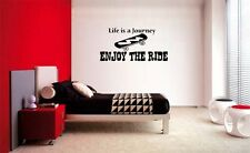LIFE IS A JOURNEY ENJOY THE RIDE KIDS BEDROOM  WALL  QUOTE DECAL VINYL WORDS