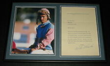 Willie Bill Shoemaker Signed Framed 1978 Letter & Photo Display JSA