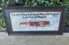 DR PEPPER FRAMED SIGN THE ONLY THING THAT TASTES LIKE A DR PEPPER