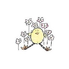 PENNY BLACK RUBBER STAMPS FLOWER CHICKY CHICKEN NEW wood STAMP