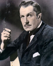 """VINCENT PRICE HOLLYWOOD MOVIE STAR ACTOR 8x10"""" HAND COLOR TINTED PHOTOGRAPH"""