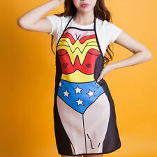 Wonder Woman Apron Be The Character Home Cooking Kitchen BBQ Party Woman Gift