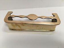 """Antique Miniature Brass Handcrafted Fireplace Fender 6.25"""" Trivet Top G5916"""