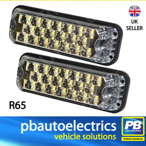 Vision Alert ECCO 3800 Surface Mount LED Strobe R65 15 Patterns TWIN PACK 3812A