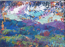 NFAC Original Abstract Landscape Knife Painting Barn ACEO mini small ART Contest