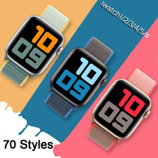 For iWatch Apple Watch Nylon Loop Woven Strap Band Series 6 5 4 3 2 1 SE 38-44MM