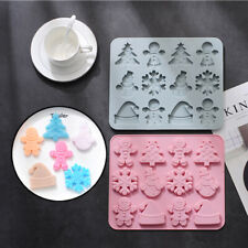 Silicone Christmas Tree Snowflakes Chocolate Mould Cake Ice Tray Wax Baking Mold