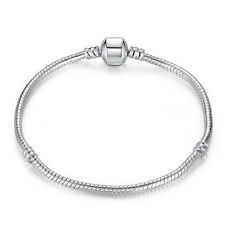 20cm Wostu 925 silver European Christmas Snake Bracelet Chain For Women Jewelry