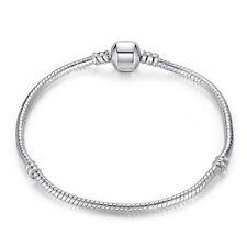 20cm Wostu 925 silver European Snake Bracelet Chain For Women Fashion Jewelry