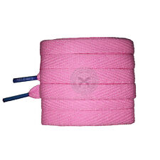 Mr Lacy Flatties Colour Tips - Baby Pink & Kiddie Blue Shoelaces - 130cm Length