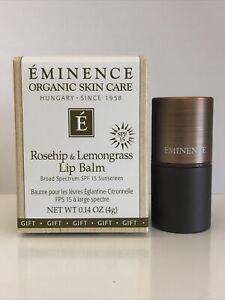 Eminence - Rosehip and Lemongrass Lip Balm SPF 15 - 0.14 oz Lip Balm NEW IN BOX