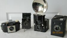 4 OLD COLLECTABLE CAMERAS - ALL KODAK