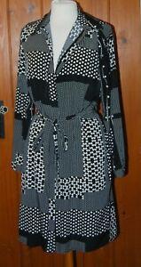 BN, D Perkins, Ladies, Light, Monochrome, Casual, Shirt Dress, size 12 (40)