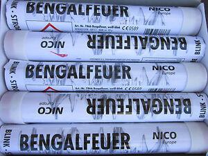 Bengalfeuer/Nicofeuérwerk/ Bengalos in Weiß/Blink-Stobe/5 Stk