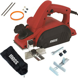MOSS®  ELECTRIC POWER PLANER WOOD PLANE PARALLEL REBATE GUIDES + DUST BAG