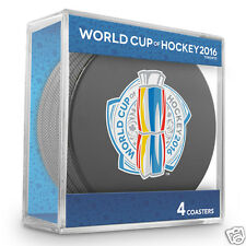 2016 World Cup of Hockey - Puck Coasters Set of 4 pcs w/cube - NEW