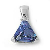 2 ct. Tanzanite Trillion Solitaire Pendant Necklace in Solid Sterling Silver
