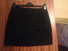 H&M black skirt gold zip size 12 BNWT
