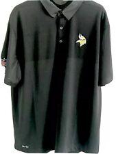 Nike Dri Fit On Field Apparel Minnesota Vikings Golf Shirt Mens Xl Black