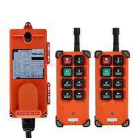 AC65-440V Industrial Hoist Crane Wireless Remote Control 2 Tansmitter &1 Receive