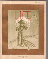 1894 Life December - Christmas Number; Bicycling in Paris; Santa Claus; Indians