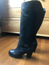 Ariat Womens Tall zip leather Boots High Society, Black size 9B 40M